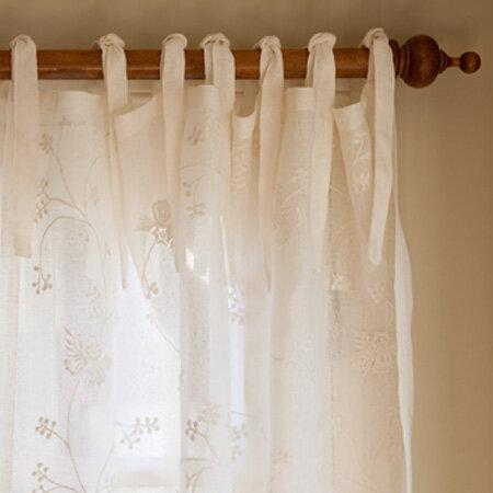 August Grove Ainsworth Floral Semi Sheer Tab Top Single Curtain Panel Reviews Wayfair