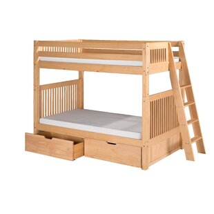 Oakwood Twin Bunk Bed with Drawers by Harriet Bee
