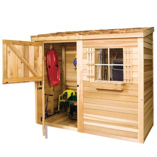 Bayside Wood Lean-To Storage Shed By Cedarshed