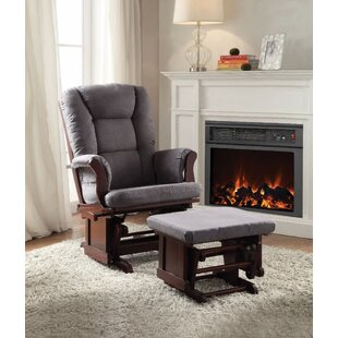 Criddle 2 Piece Glider and Ottoman Harriet Bee