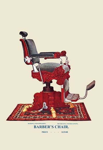 Darby Home Co Hydraulic Barberu0027s Chair Graphic Art Print On Canvas | Wayfair
