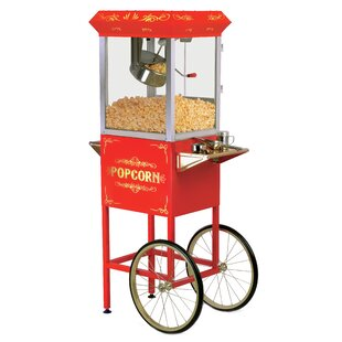 8 Oz. Deluxe Kettle Old Fashioned Popcorn Trolley by Elite Maxi-Matic
