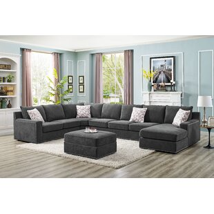 Superb Makah 6 Seater Large Right Hand Facing Sectional Sofa With Ottoman Ibusinesslaw Wood Chair Design Ideas Ibusinesslaworg