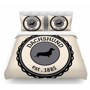 Dachshund  Featherweight Duvet Cover