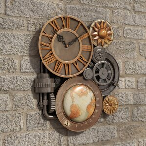 Wall Clock With Gears Wayfair
