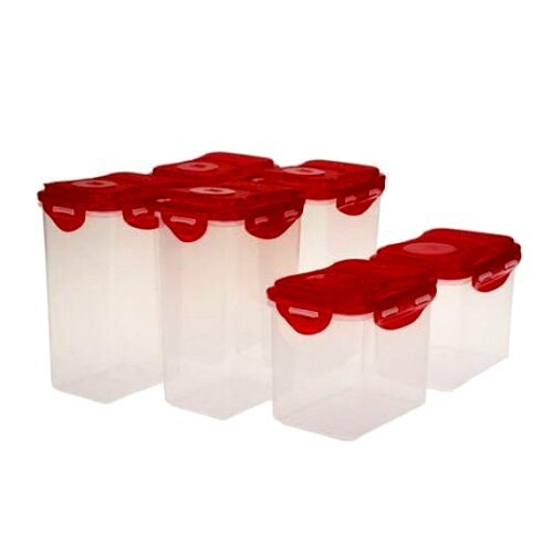 Lock Lock Flip Top Pantry 6 Container Food Storage Set Wayfair