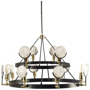 Ivy Bronx Liam 12-Light Wagon Wheel Chandelier