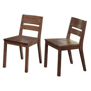 Brayden Studio Losey Solid Wood Dining Chairs (Set of 2)