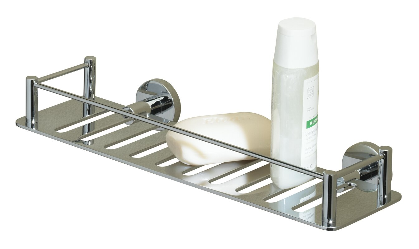 Attractive Essentials Solid Brass Wall Mounted Shower Caddy