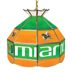 Trademark Global University of Miami 1-Light Pool Table Lights Pendant