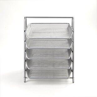 Mind Reader 5 Tier Steel Mesh Paper Tray Desk Organizer