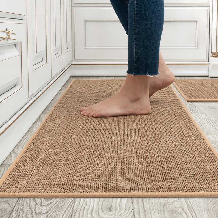 Red Barrel Studio Kitchen Rugs And Mats Washable 2 Pcs Non Skid Natural Rubber Kitchen Mats For Floor Runner Rugs Set For Kitchen Floor Front Of Sink Hallway Laundry Room Wayfair