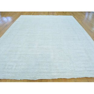 Affordable One-of-a-Kind Beauchemin Design Hand-Knotted Beige Wool Area Rug By Isabelline
