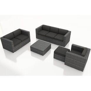 Hobbs 5 Piece Sunbrella Sofa Set with Cushions