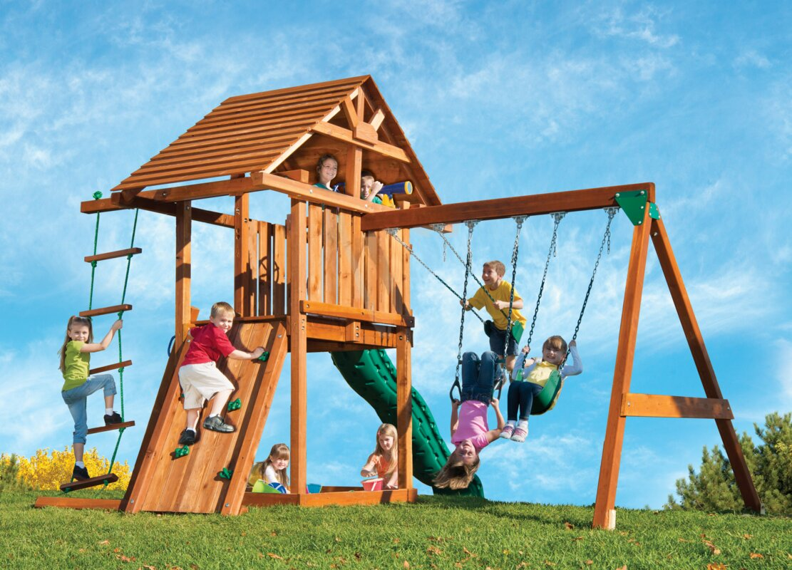 kids creations kids creation redwood circus 3 swing set u0026 reviews