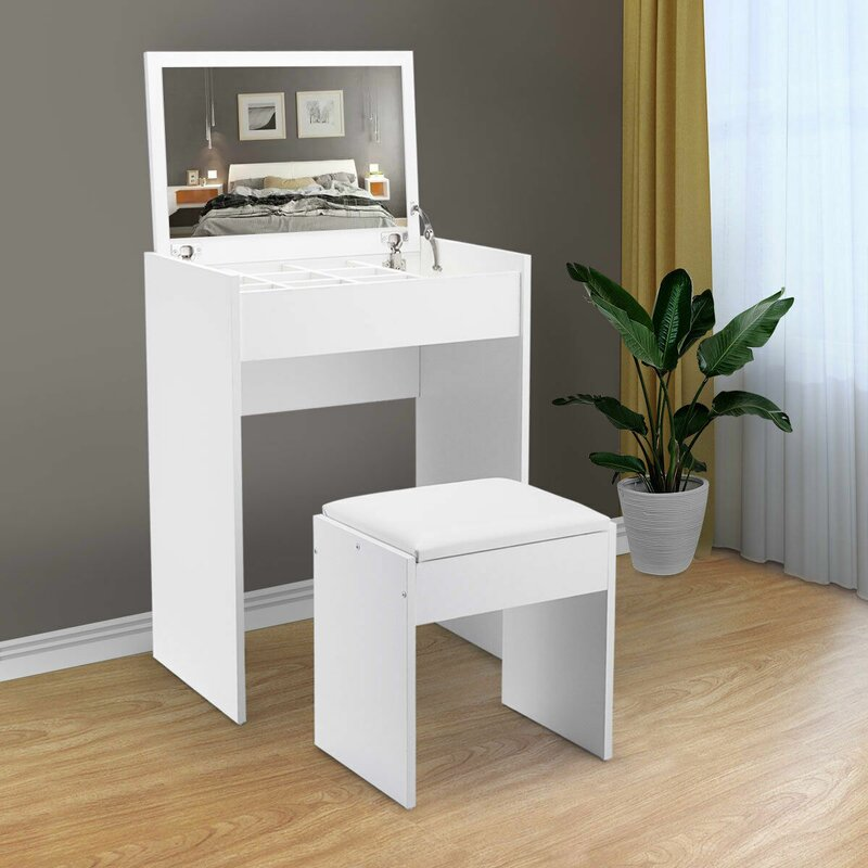 Senja Vanity Table Set With Stool And