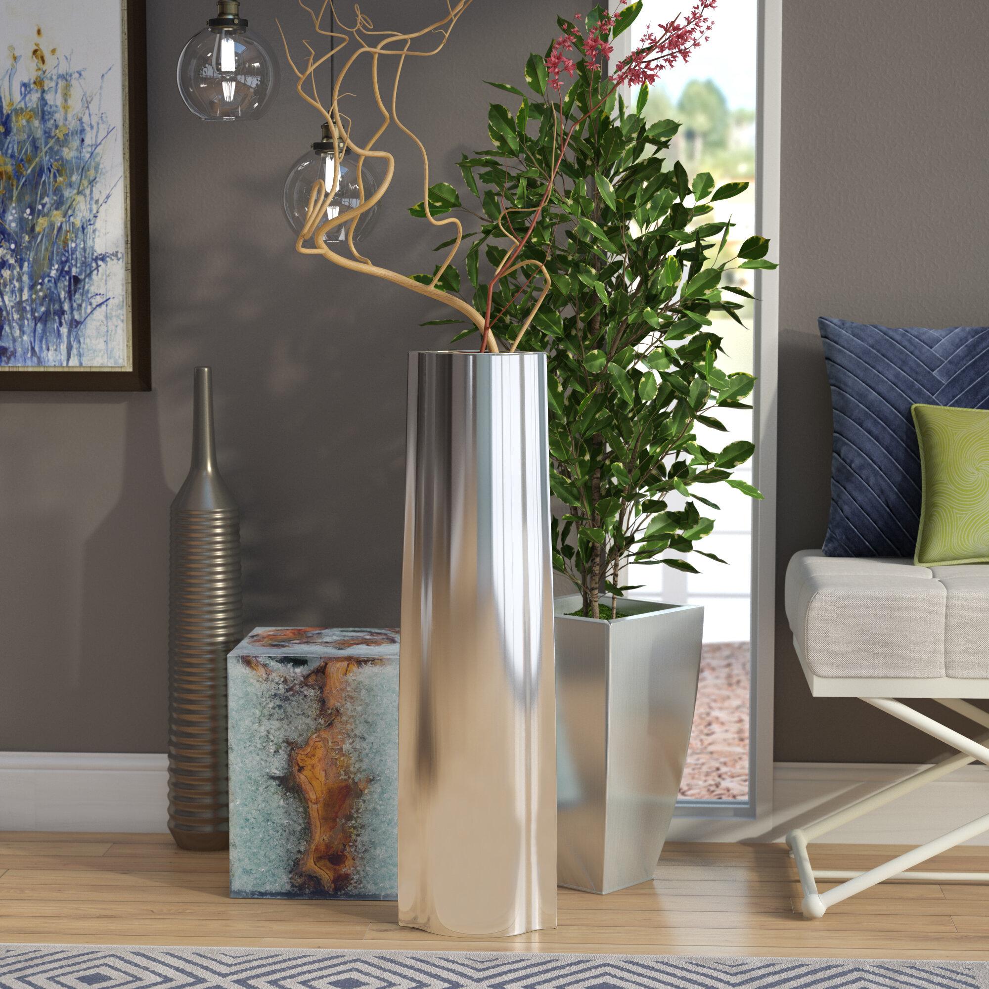 Gracie Oaks Joleen Modern Floor Vase Reviews Wayfair