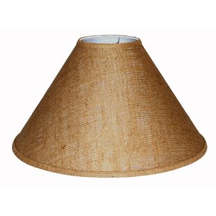 Burlap lampshade light shades wayfair 20 burlap empire lamp shade aloadofball Image collections