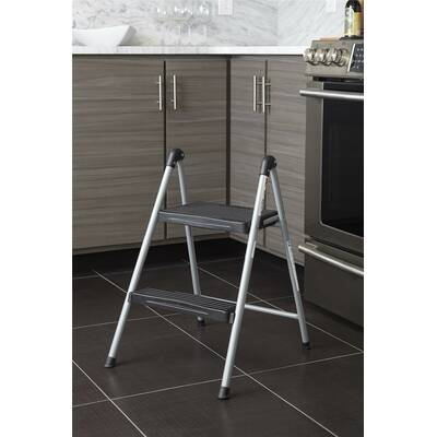 Groovy Rubbermaid 2 Step Folding Step Stool With 300 Lb Load Caraccident5 Cool Chair Designs And Ideas Caraccident5Info