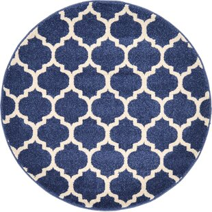 Coughlan Dark Blue/Ivory Area Rug by Charlton Home