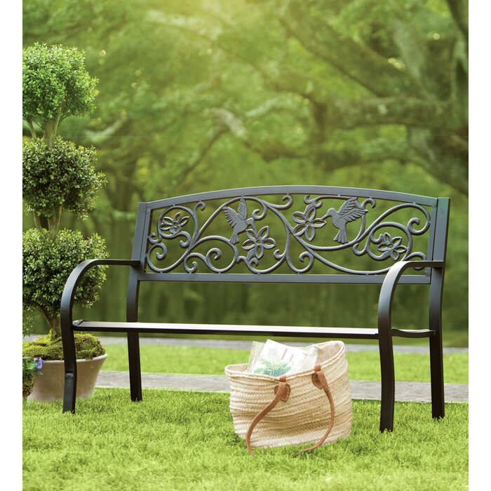 tree bronze palm garden bench wood metal ft htm design classic with outdoor p