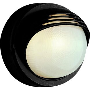 Read Reviews 1-Light Outdoor Flush Mount By TransGlobe Lighting