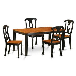 Pillar 5 Piece Wood Dining Set August Grove