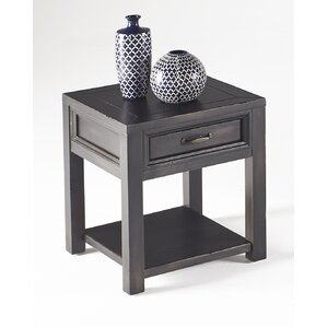 Amplas End Table by Alcott Hill