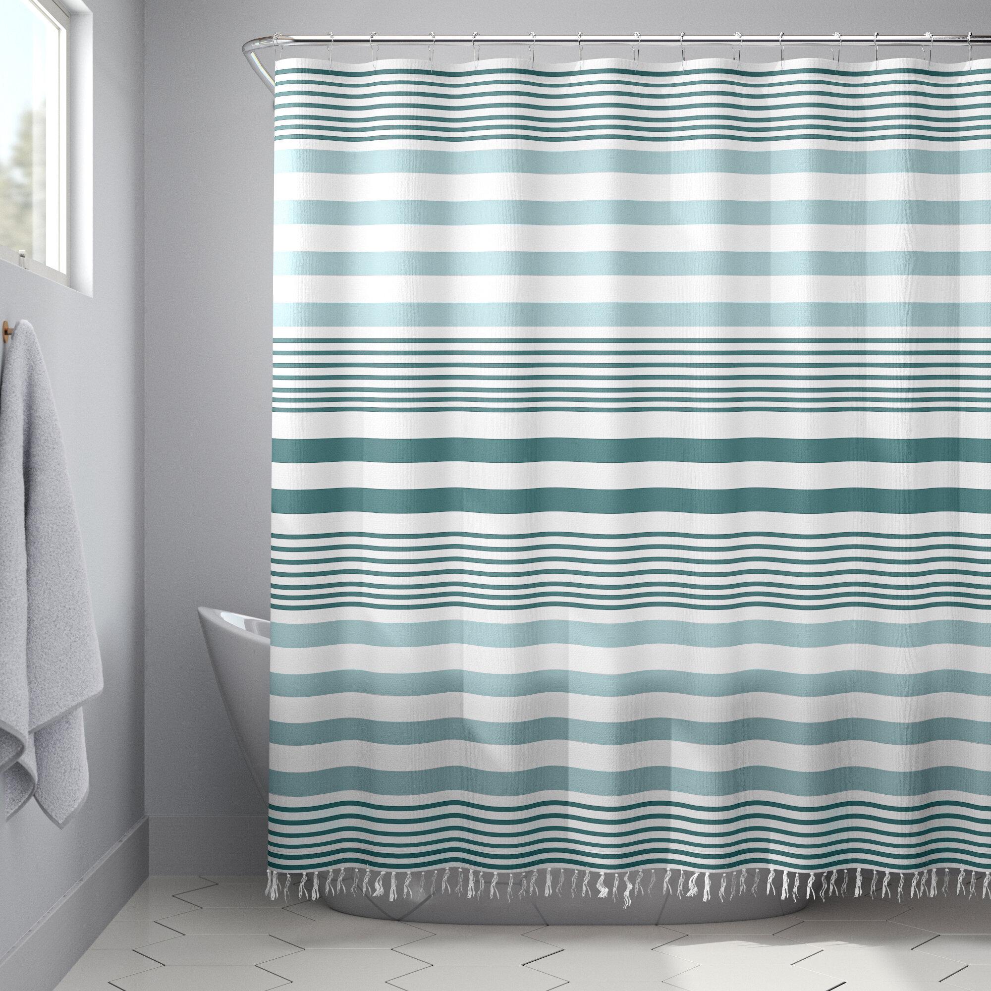 Placencia Stripe Tassel Single Shower Curtain Reviews Allmodern