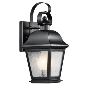 Compare Darrah Traditional 1-Light Glass Shade Outdoor Wall Lantern By Three Posts