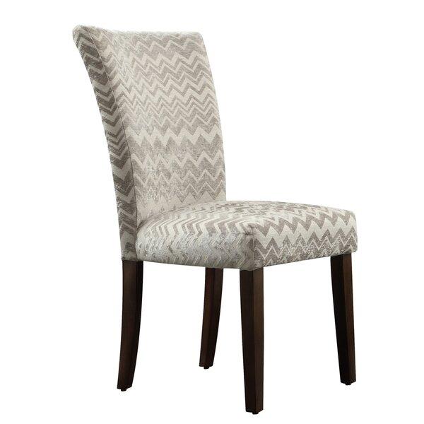 Willa Arlo Interiors Hurst Chevron Print Parson Chair U0026 Reviews   Wayfair