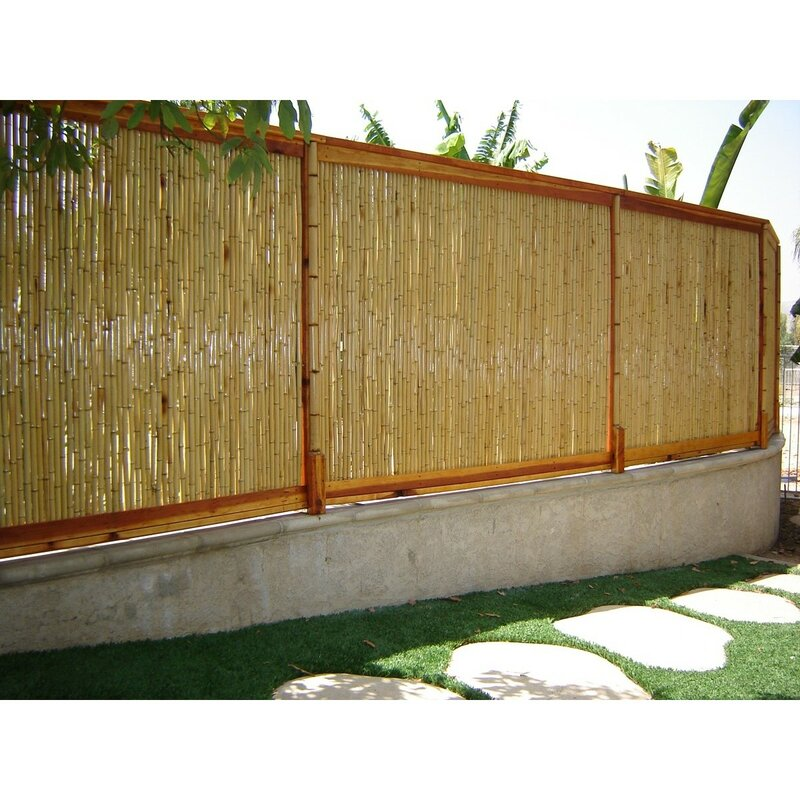 Backyard X-Scapes 8 ft. W Rolled Bamboo Fence Panel ...