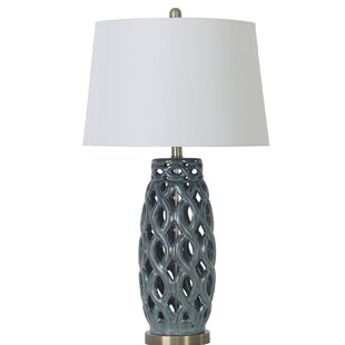 Batey Ceramic Open Weave 30 Table Lamp