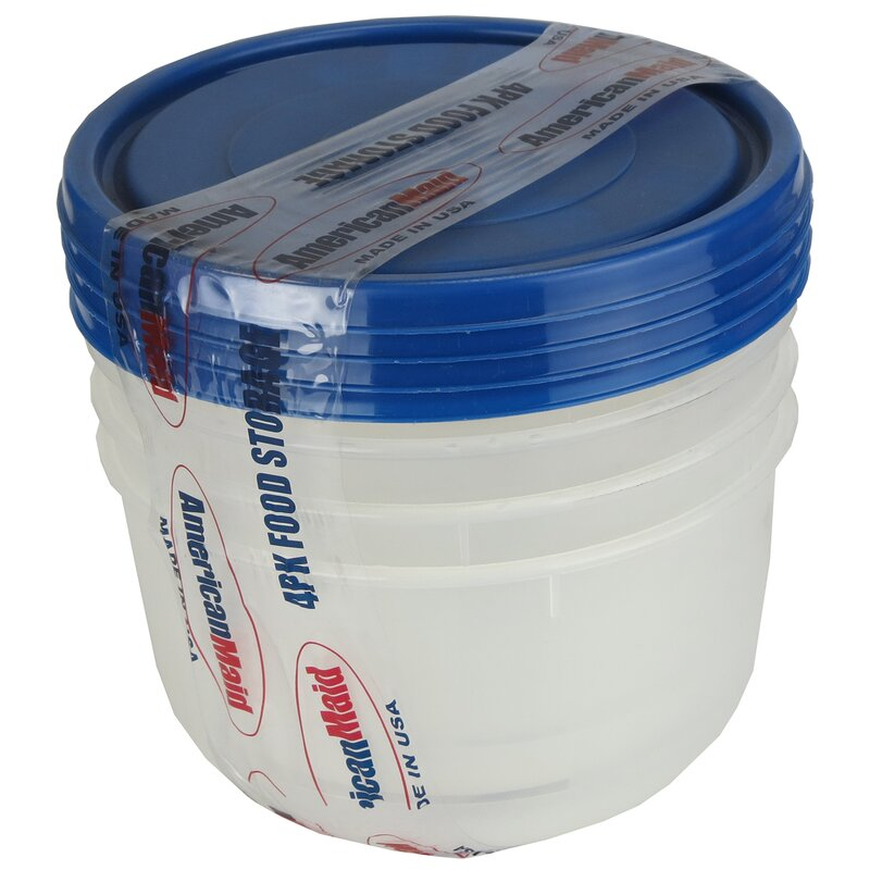 Tall Round Food Storage Container