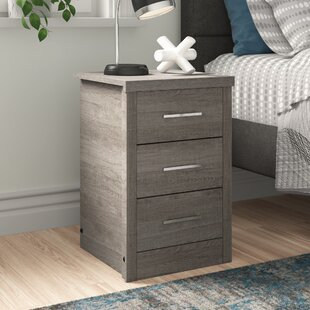 Lehigh 3 Drawer Bedside Table By Zipcode Design