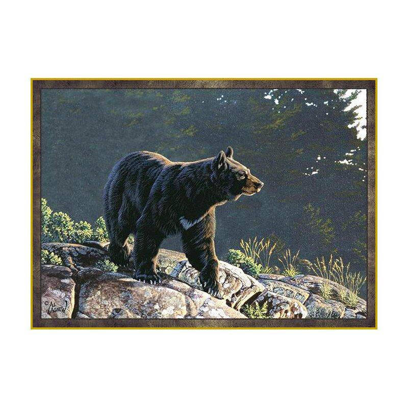 Junie Black Bear Area Rug