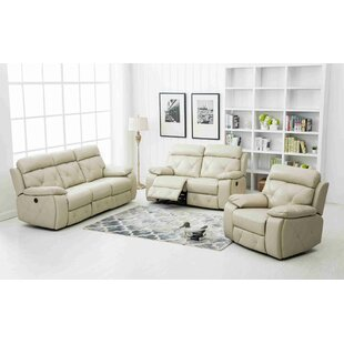Neymar Reclining 3 Piece Living Room Set by Wrought Studio