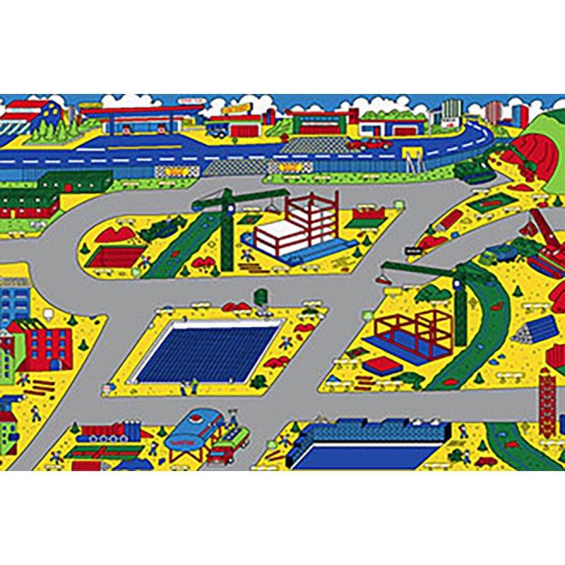 Zoomie Kids Studebaker Kids Construction Zone Yellow Area Rug Wayfair Ca
