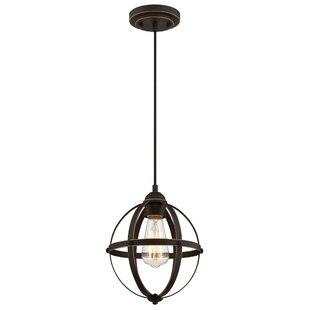Gracie Oaks Genna 1-Light Globe Pendant