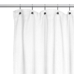 Chevron Cotton Shower Curtain by Sweet Home Collection