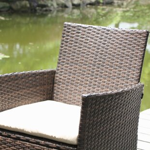 Mistana Northville 4 Piece Wicker Conversation Set with Cushions