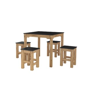 Wiggin 5 Piece Solid Wood Dining Set by Millwood Pines
