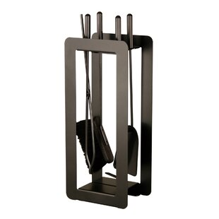 Steel Fireplace Tool Set By Symple Stuff