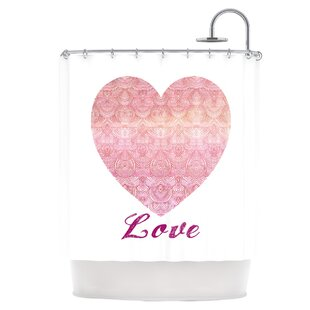 Love Single Shower Curtain