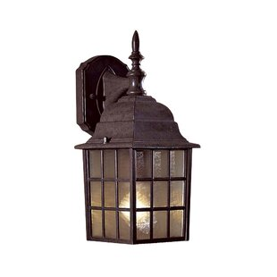 Read Reviews Bridgeport 1-Light Outdoor Wall Lantern By Great Outdoors by Minka