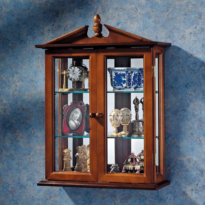 Amesbury Manor Wall Mounted Curio Cabinet