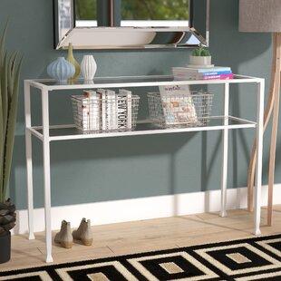 Orren Ellis Casas Metal/Glass Console Table