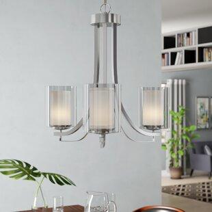 Nettie 3-Light Shaded Chandelier by Zipcode Design