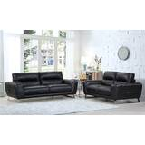 Hawkesbury Common Luxury Leather 2 Piece Living Room Set by Orren Ellis