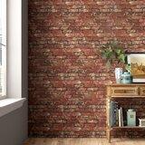 Distinctive Brick Rustic Sidewall 10m x 52cm Wallpaper Roll